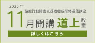 強度行動障害支援者養成研修(基礎・実践)11月開講【募集締切】